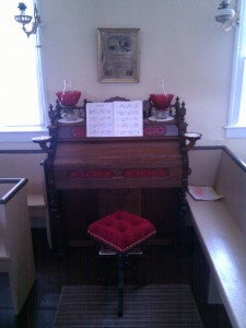 Pump organ in chapel