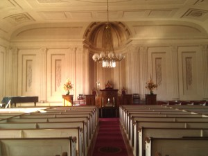 Interior, Universalist Meeting House, Provincetown