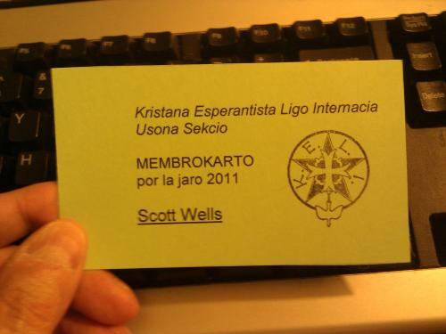KELI membership card, 2011
