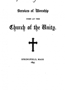 cover page, Church of the Unity book