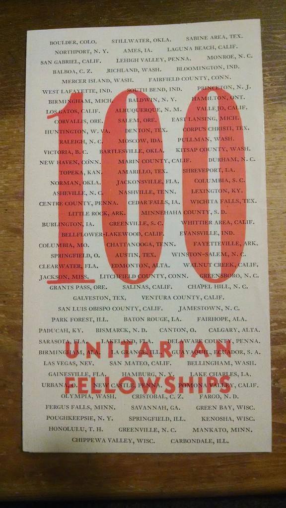 100 Unitarian Fellowships