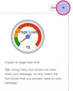 Google Fonts download button