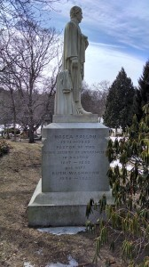 Hosea Ballou's grave, side view