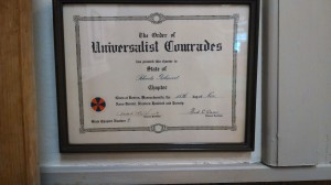 Order of Universalist Comrades charter