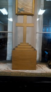 Cross on pedestal