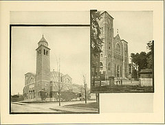 (Left) Grace Church, Universalist, Lowell, Massachusetts
