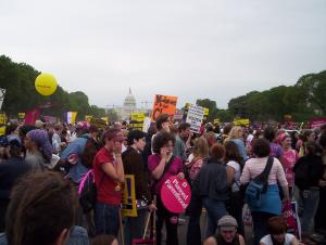 On the Mall, facing the Capitol