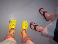 Hubby and me (wearing Crocs)